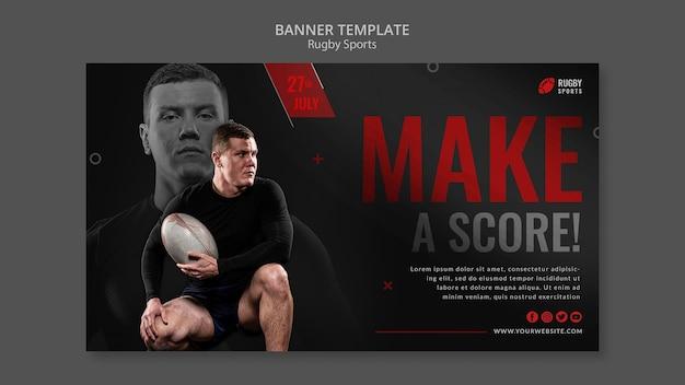 Sjabloon voor horizontale spandoek rugbysport