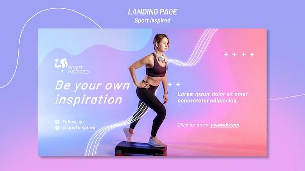Sjabloon voor horizontale spandoek voor fitnesstraining