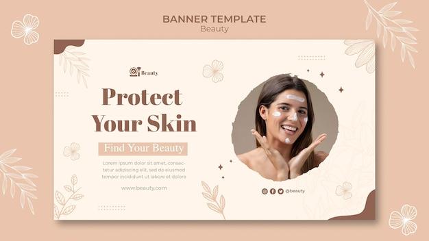 Sjabloon voor horizontale spandoek voor huidverzorging