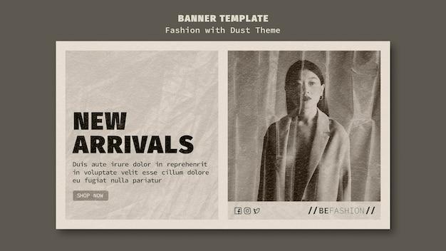 Sjabloon voor horizontale spandoek voor modewinkel
