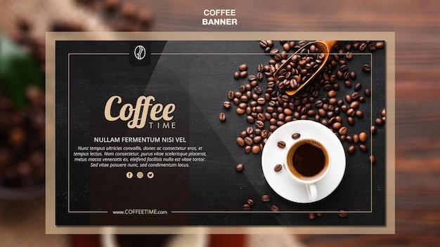 Sjabloon voor koffie concept-spandoek