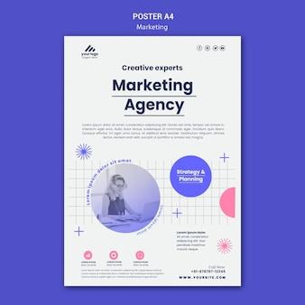 Sjabloon voor marketingstrategie-poster
