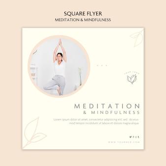 Sjabloon voor meditatie en mindfulness flyer