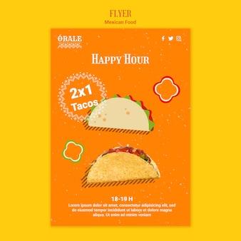 Sjabloon voor mexicaans eten flyer