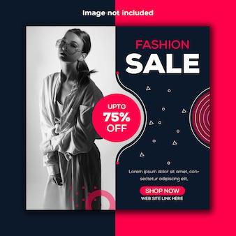 Sjabloon voor mode banner instagram sociale verkoop