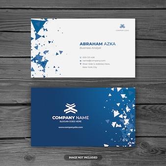 Sjabloon voor modern blauw professioneel visitekaartjes