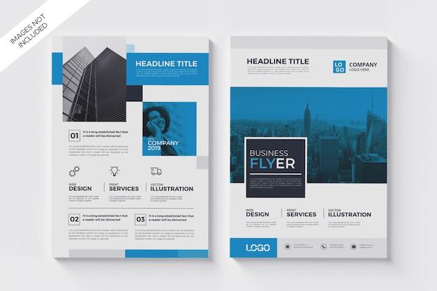 Sjabloon voor modern flyer, a4 business flyer