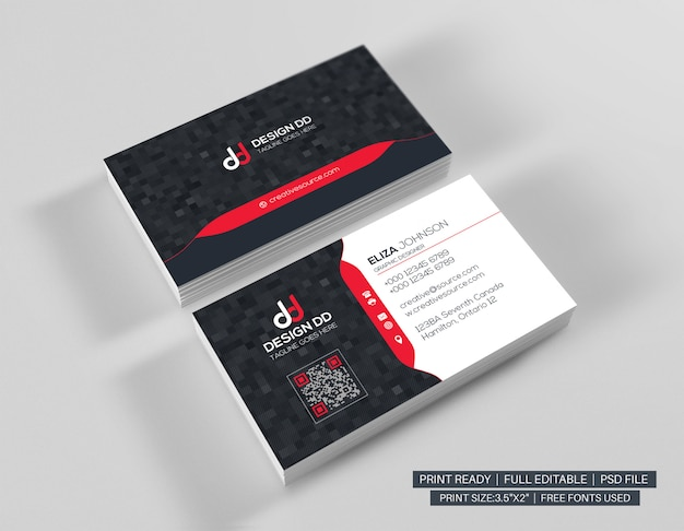 Sjabloon voor modern professionele visitekaartjes