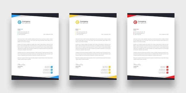 Sjabloon voor modern zakelijk briefpapier