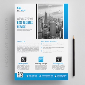 Sjabloon voor moderne corporate flyer