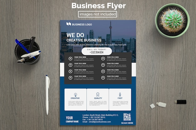 Sjabloon voor moderne corporate flyer