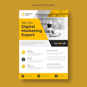 Sjabloon voor moderne digitale marketing-flyer