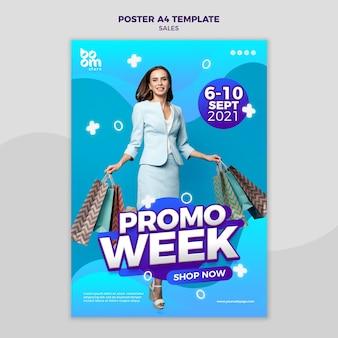 Sjabloon voor moderne verkoopposters Premium Psd