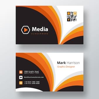 Sjabloon voor moderne zakelijke psd-visitekaartjes