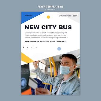 Sjabloon voor nieuwe stadsbus-flyer