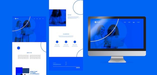 Sjabloon voor online content met zakenvrouw