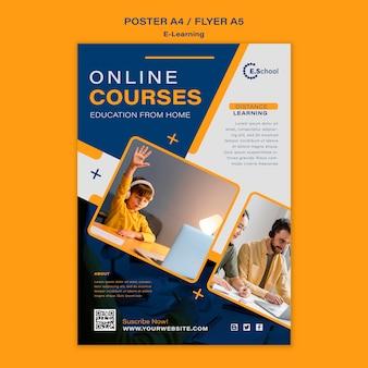 Sjabloon voor online cursussen-poster