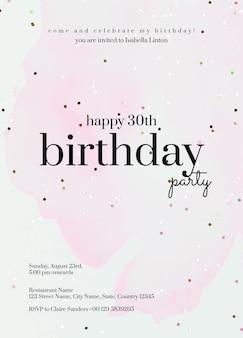 Sjabloon voor online feestuitnodiging psd verjaardagsviering