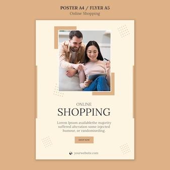 Sjabloon voor online winkelen-flyer