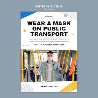 Sjabloon voor openbaar vervoer-poster