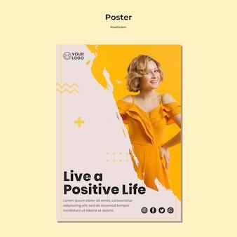 Sjabloon voor positivisme flyer