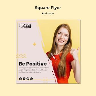 Sjabloon voor positivisme vierkante flyer