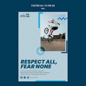 Sjabloon voor poster bmx-winkeladvertentie