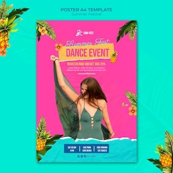 Sjabloon voor poster dansfestival poster