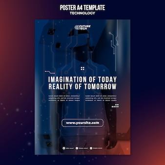 Sjabloon voor poster met virtuele briltechnologie