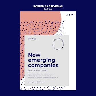 Sjabloon voor poster opkomende bedrijven
