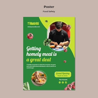 Sjabloon voor poster over gezond eten