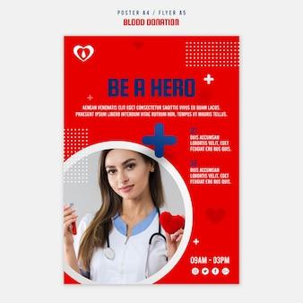Sjabloon voor poster voor bloeddonatie