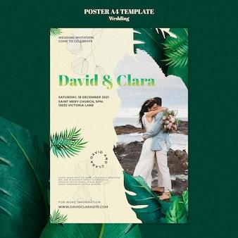 Sjabloon voor poster voor bruiloftsevenement