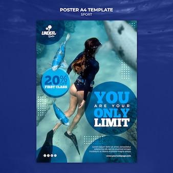 Sjabloon voor poster voor duiktraining