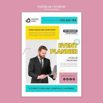 Sjabloon voor poster voor evenementenplanner
