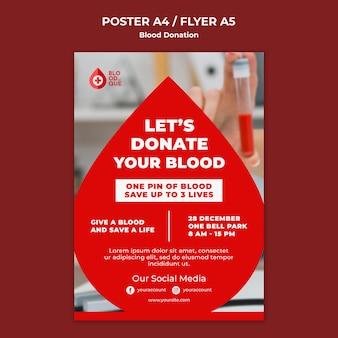 Sjabloon voor poster voor humanitaire actie