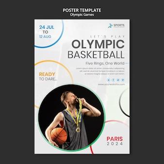 Sjabloon voor poster voor internationale sportcompetitie