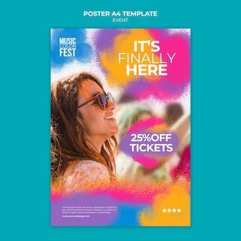 Sjabloon voor poster voor muziekevenement