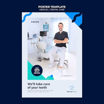 Sjabloon voor poster voor tandheelkundige zorg