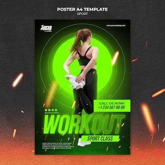 Sjabloon voor poster voor trainingsklasse