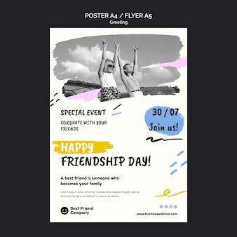 Sjabloon voor poster voor vriendschapsdag