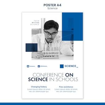 Sjabloon voor poster voor wetenschapsconferentie