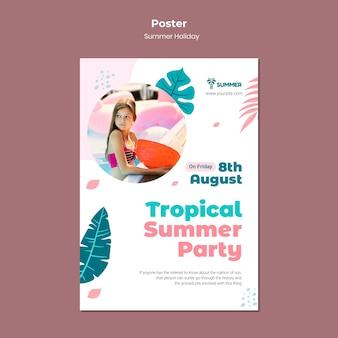 Sjabloon voor poster zomerfeest