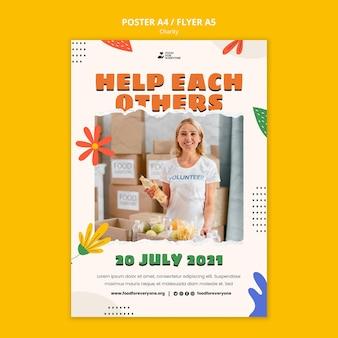 Sjabloon voor posterontwerp voor liefdadigheid