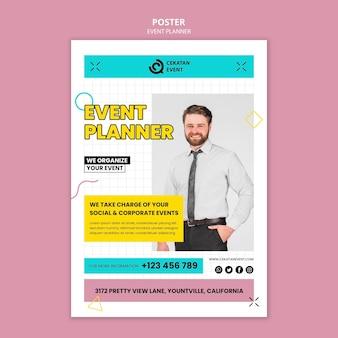Sjabloon voor posterplanning voor evenementen