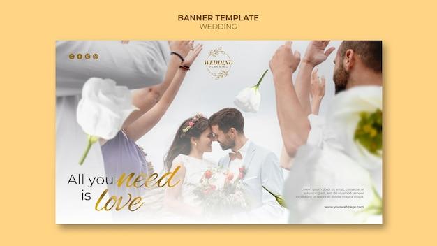 Sjabloon voor prachtige bruiloftbanner