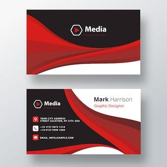 Sjabloon voor professionele zakelijke psd-visitekaartjes