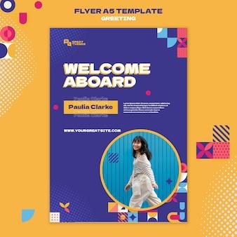 Sjabloon voor reisbegroeting flyer