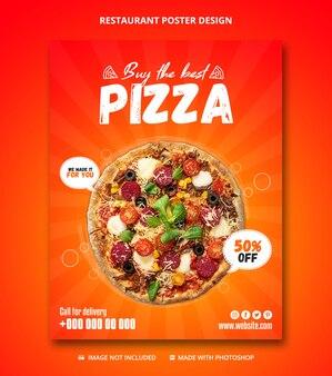 Sjabloon voor restaurant zakelijke promotie poster spandoek
