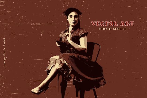 Sjabloon voor retro foto-effect